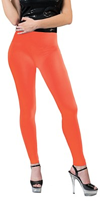 Neon Orange Leggings Adult Pants