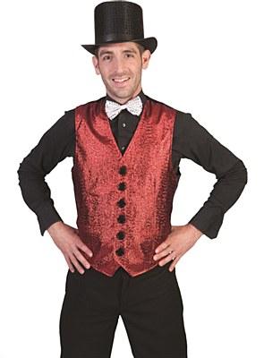 Red Glitter Show Biz Vest