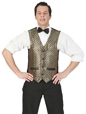 Glitter Dot Adult Vest - Gold & Black