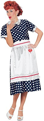 I Love Lucy Polka Dot Dress Adult Costume