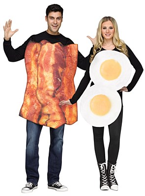Bacon And Eggs Duo Adult Costume Set