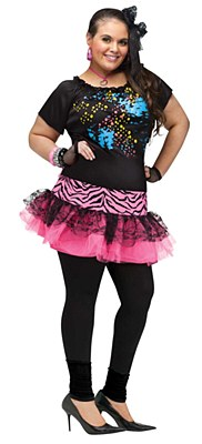 80's Pop Party Adult Plus Costume