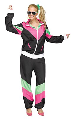 80's Women's Track Suit Adult Costume