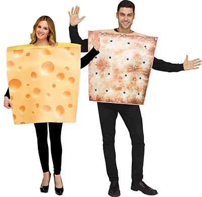 Cheese And Cracker Duo Adult Costume Set