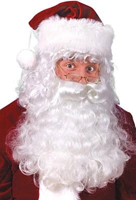 Santa Beard Eyebrows And Wig Set
