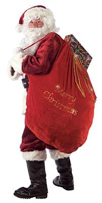 Velvet Santa Bag