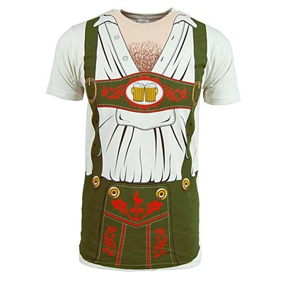 Oktoberfest Lederhosen Men's Plus T-Shirt