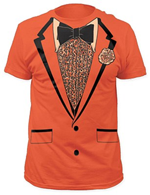 Retro Orange Tuxedo Men's T-Shirt