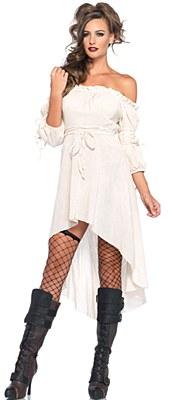 Gauze Peasant Adult Ivory Dress