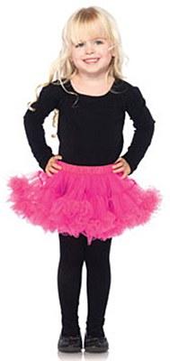 Child Hot Pink Layered Petticoat