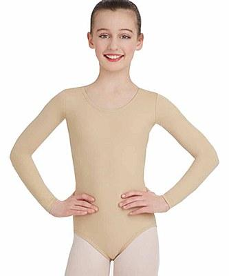 Nude Long Sleeve Child Bodysuit