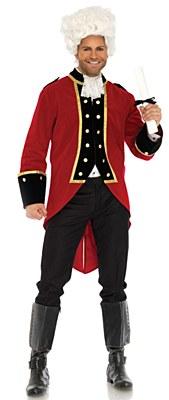 Velvet Regency Red Coat Jacket