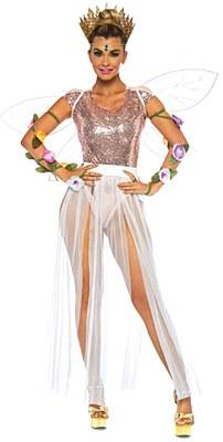 Sheer Multi Slit Long White Skirt