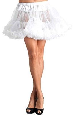 Layered Stiff Tulle White Petticoat