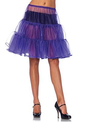 Shimmer Knee Length Purple Petticoat