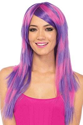 Cheshire Cat Long Striped Wig