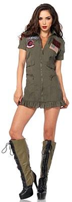 Top Gun Flight Dress Adult Costume