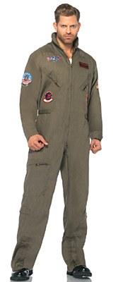Top Gun Men's Flight Suit Adult Plus Costume