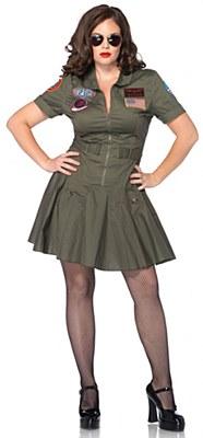 Top Gun Flight Dress Adult Plus Costume