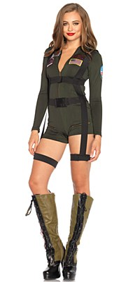 Top Gun Flight Romper Adult Costume