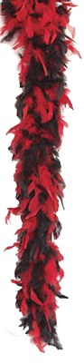 "72"" Red And Black Feather Boa"