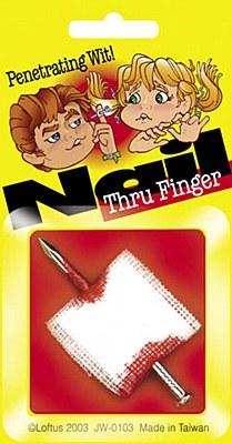 Bloody Nail Through Finger Gag