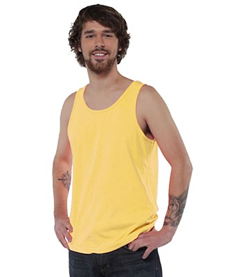 80's Unisex Neon Yellow Tank Top
