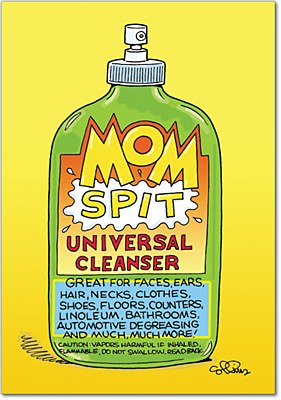 Mother's Day - Mom Spit Greeting Card