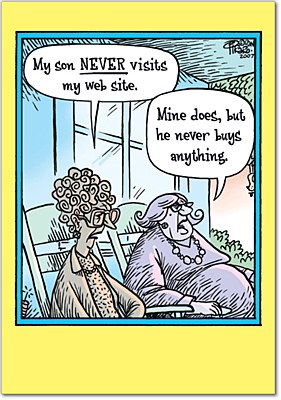 Mother's Day - Never Visit Website Greeting Card