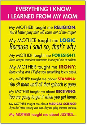 Mothers Day - Learned From Mom Greeting Card