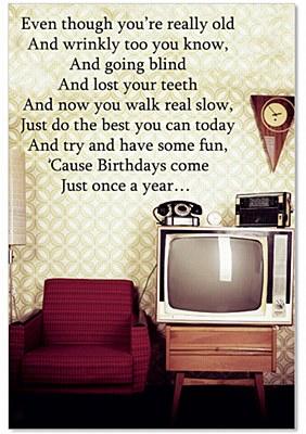 Birthday - Last Birthday Greeting Card