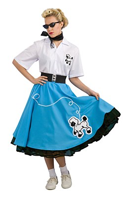 Rental 50's Poodle Skirt Outfit Adult Costume