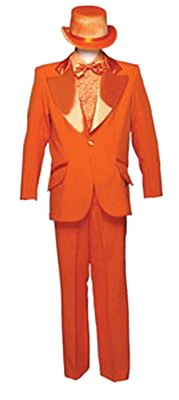 Rental Adult Orange Tuxedo Suit