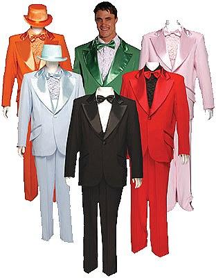 Rental Adult Red Tuxedo Suit