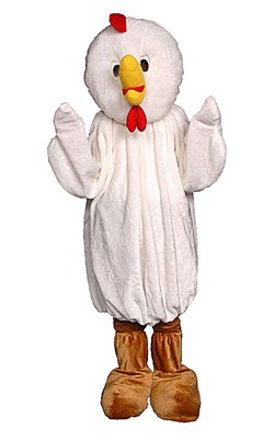 Rental Chicken Adult Costume