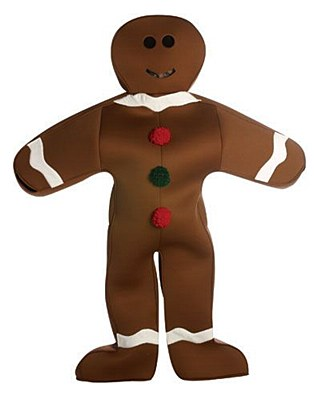 Rental Gingerbread Man Adult Costume