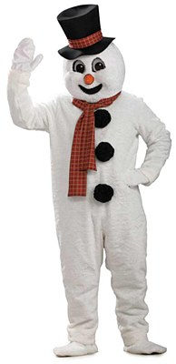 Rental Snowman Mascot Adult Costume
