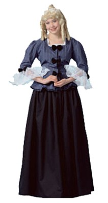 Rental Colonial Woman Adult Costume
