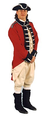 Rental British Red Coat Adult Costume