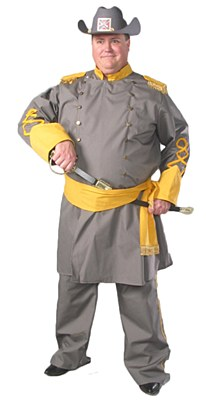 Rental Confederate Officer Adult Plus Costume