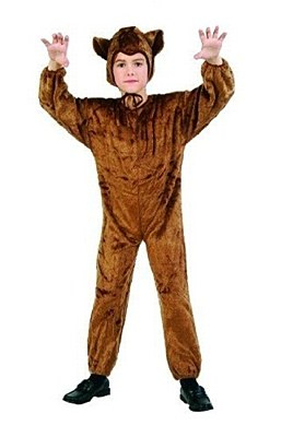 Bear Plush Jumpsuit Child Costume