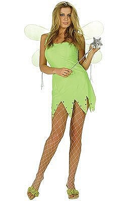Green Fairy Tinkerbell Adult Costume