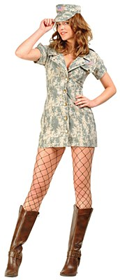 Desert Dolly Army Dress Adult Costume