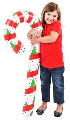 "Inflatable 44"" Candy Cane"