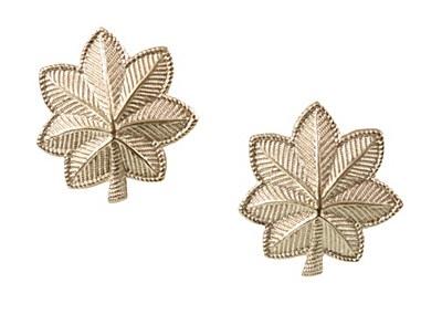 Insignia Major Oak Leaves 2 Piece Pins