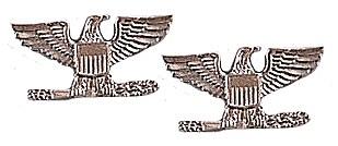 Insignia Colonel Eagles 2 Piece Pins