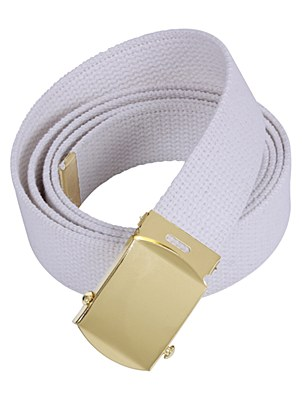"Military Web 54"" White Belt"