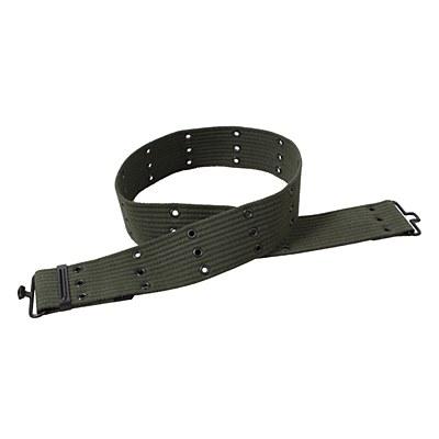 Military Style Canvas Pistol Olive Belt