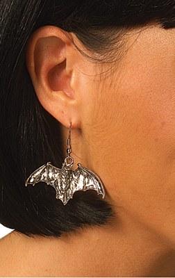 Bat Metal Earrings