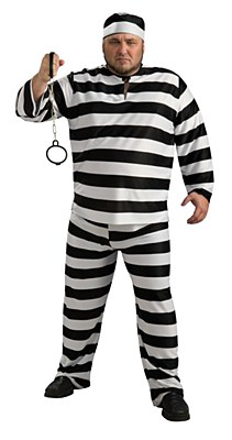 Prisoner Man Adult Plus Costume